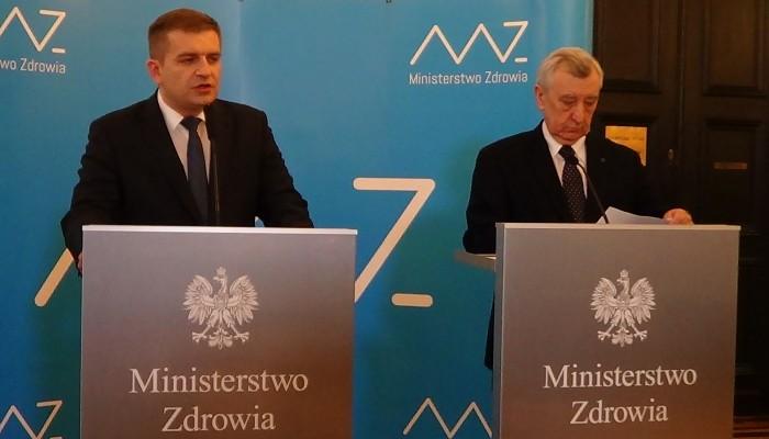 Bartosz Arłukowicz   Minister Zdrowia prof. Stanisław Radowicki Błąd w klinice in vitro w Szczecinie fot. ŚWIECZAK