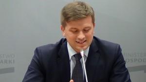 Arkadiusz Bąk Podsekretarz stanu w MG  Konferencja prasowa – rozwój i promocja polskiego sektora kosmicznego fot. ŚWIECZAK