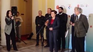 Briefing prasowy ws. skutków pożaru mostu Łazienkowskiego. fot. ŚWIECZAK
