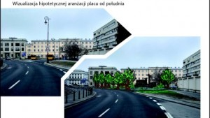 Pomnik ofiar katastrofy smoleńskiej na rogu ulic Trębackiej i Focha. Wirtualizacja Urzędu Miasta