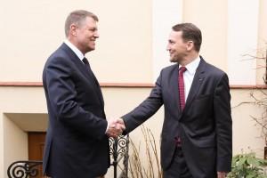 Rozmowy marszałka Sejmu z prezydentem Rumunii fot. Krzysztof Białoskórski