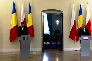 Konferencja prasowa prezydentów Polski i Rumunii fot.ŚWIECZAK