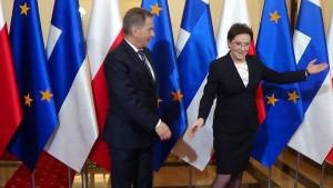 Spotkanie Premier Ewy Kopacz z prezydentem Finlandii Sauli Niinistö fot. ŚWIECZAK