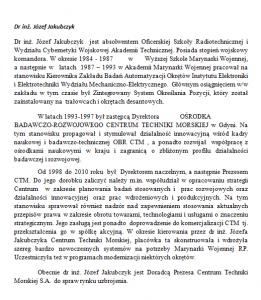 Dr inż. Józef Jakubczyk 22 lata Polskiego Lobby Przemysłowego im. Eugeniusza Kwiatkowskiego
