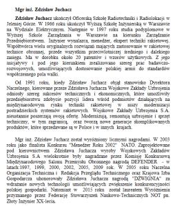 Mgr inż. Zdzisław Juchacz 22 lata Polskiego Lobby Przemysłowego im. Eugeniusza Kwiatkowskiego