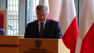 Prezydent RP Bronisław Komorowski Prezydent RP na Zgromadzeniu Ogólnym Sędziów Trybunału Konstytucyjnego fot.ŚWIECZAK