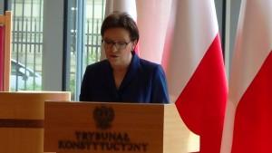 Prezes Rady Ministrów Ewy Kopacz Prezydent RP na Zgromadzeniu Ogólnym Sędziów Trybunału Konstytucyjnego fot.ŚWIECZAK