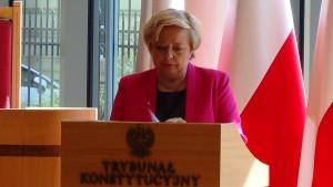 Prezes Sądu Najwyższego prof. Małgorzata Gersdorf Prezydent RP na Zgromadzeniu Ogólnym Sędziów Trybunału Konstytucyjnego fot.ŚWIECZAK