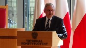 Prezes Naczelnego Sądu Administracyjnego Roman Hauser Prezydent RP na Zgromadzeniu Ogólnym Sędziów Trybunału Konstytucyjnego fot.ŚWIECZAK