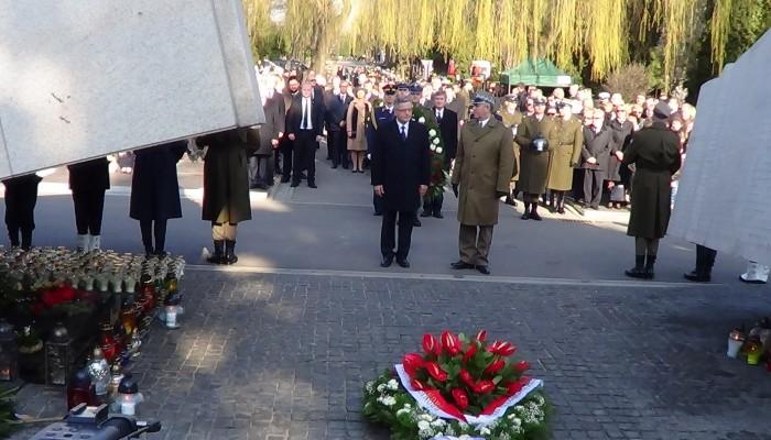 Uroczystości w 5 rocznicę Katastrofy Smoleńskiej na Cmentarzu Wojskowym na Powązkach fot.ŚWIECZAK