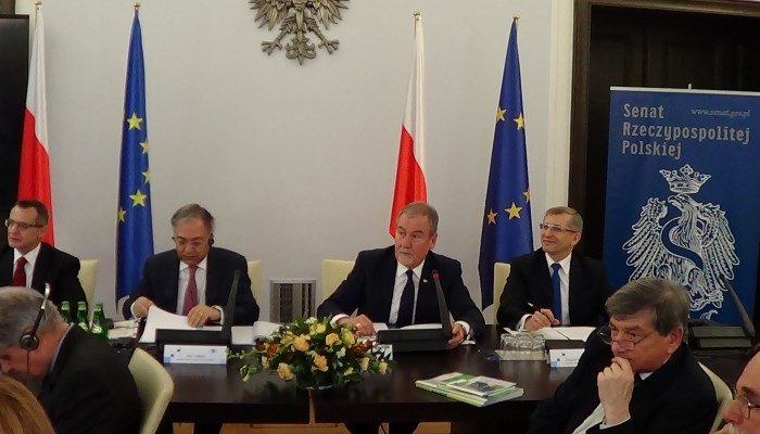 Spotkanie delegacji członków Europejskiego Trybunału Obrachunkowego z senatorami i posłami. fot.ŚWIECZAK