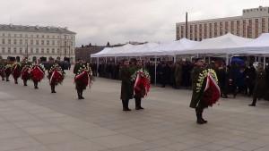 Uroczystość w 75. rocznicę Zbrodni Katyńskiej przed Grobem Nieznanego Żołnierza fot.ŚWIECZAK