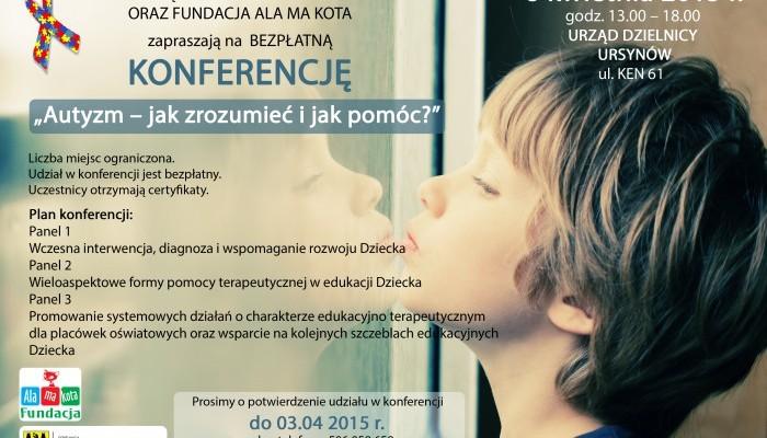 """Konferencja """"Autyzm – jak zrozumieć i jak pomóc?"""""""