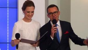 """Paulina Chylewska Maciej Kurzajewski Gala Konkursu """"Dobry Klimat dla Rodziny"""" w Pałacu Prezydenckim fot.ŚWIECZAK"""