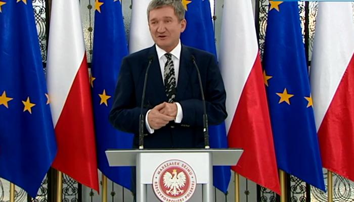 Briefing wicemarszałka Jerzego Wenderlicha ws. wyboru marszałka Sejmu