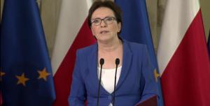 Ewa Kopacz Prezes Rady Ministrów Dymisja ministrów fot. ŚWIECZAK