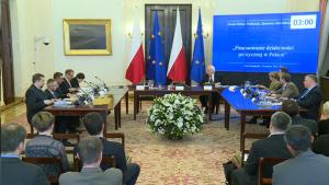 """Forum Debaty Publicznej """"Finansowanie działalności politycznej w Polsce"""" fot. ŚWIECZAK"""