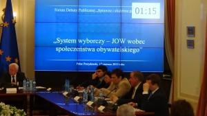 System wyborczy – JOW wobec społeczeństwa obywatelskiego fot.ŚWIECZAK