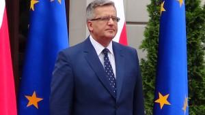 Bronisław Komorowski Prezydent Rzeczypospolitej Polskiej  Gala AgroLigi 2014 fot. ŚWIECZAK