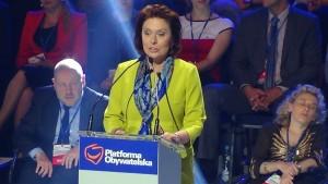 Małgorzata Kidawa-Błońska Konwencja Platformy Obywatelskiej fot. ŚWIECZAK