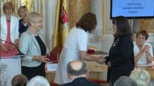 Ewa Brykowska-Liniecka Uroczysta sesja Rady Miasta Warszawy na Zamku Królewskim