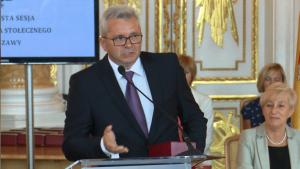 Sławomir Kasprzak Uroczysta sesja Rady Miasta Warszawy na Zamku Królewskim fot. ŚWIECZAK