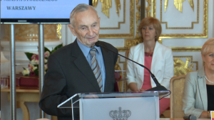 prof. Henryk Samsonowicz Uroczysta sesja Rady Miasta Warszawy na Zamku Królewskim