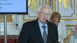 Andrzej Wajda Uroczysta sesja Rady Miasta Warszawy na Zamku Królewskim