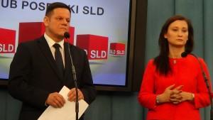 Paulina Piechna-Więckiewicz,  Marek Niedbała Projekt ustawy SLD ws. dopalaczy fot. ŚWIECZAK