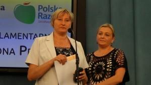 Renata Pszczółkowska-Kozub, Urszula Gołuch-Nikanowicz Konferencja prasowa - Protest pracowników sądów i prokuratur fot. ŚWIECZAK