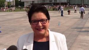 Teresa Piotrowska Minister Spraw Wewnętrznych Święto Policji w Warszawie fot. ŚWIECZAK