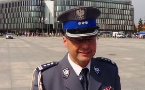 Mariusz Sokołowski Inspektor Rzecznik Policji Święto Policji w Warszawie fot. ŚWIECZAK