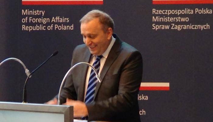 Grzegorz Schetyna Minister Spraw Zagranicznych  Narada Ambasadorów 2015 fot. ŚWIECZAK