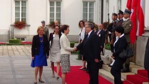 Spotkanie Prezydenta RP Bronisława Komorowskiego z Prezydent Simonettą Sommarugą fot. ŚWIECZAK