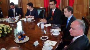 Premier Ewa Kopacz spotkała się z prezydent Szwajcarii Simonettą Sommarugą fot. ŚWIECZAK