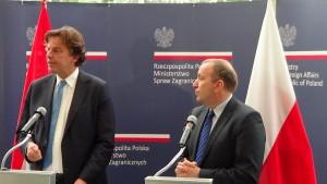 Konferencja prasowa ministrów spraw zagranicznych Polski i Holandii fot. ŚWIECZAK