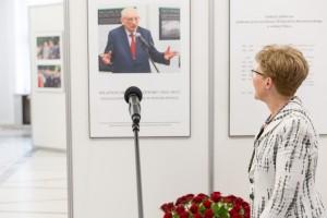 Wystawa w Sejmie - Działalność publiczna w wolnej Polsce - Władysław Bartoszewski 1922-2015 fot. Paweł Kula/Sejm