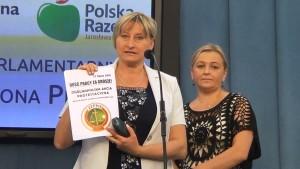 Renata Pszczółkowska-Kozub Konferencja prasowa - Protest pracowników sądów i prokuratur fot. ŚWIECZAK