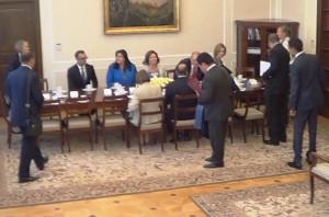 Marszałek Małgorzata Kidawa-Błońska spotkała się z szefem Izby Deputowanych Meksyku Julio Césarem Moreno Riverą fot.ŚWIECZAK