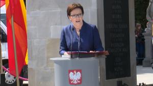 Premier Ewa Kopacz Uroczysta zmiana warty przed Grobem Nieznanego Żołnierza fot. ŚWIECZAK