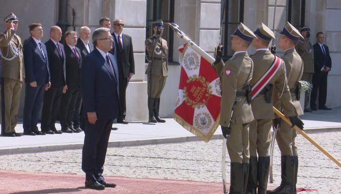 Pożegnanie prezydenta Komorowskiego z Siłami Zbrojnymi RP fot. ŚWIECZAK