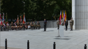 Uroczystości pod Pomnikiem Polskiego Państwa Podziemnego i Armii Krajowej fot. ŚWIECZAK