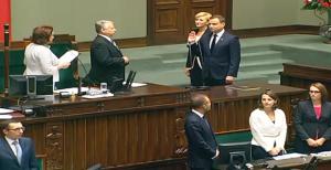 Uroczystość zaprzysiężenia prezydenta Andrzeja Dudy przed Zgromadzeniem Narodowym fot. ŚWIECZAK