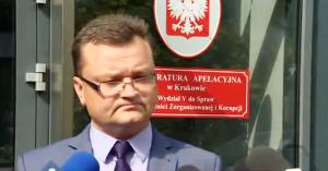 Piotr Kosmaty rzecznik Prokuratury Apelacyjnej w Krakowie Marcin D. zatrzymany przez CBA w Trójmieście fot. ŚWIECZAK