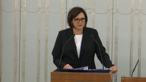 Małgorzata Sadurska Szef Kancelarii Prezydenta RP Senat odrzuci wniosek o referendum Dudy? Tak radzą komisje. fot. ŚWIECZAK