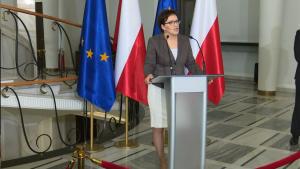 Oświadczenie Ewy Kopacz w sprawie wniosku o drugie referendum fot. ŚWIECZAK