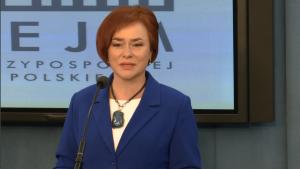 poseł dr Lidia Gądek Przewodnicząca Parlamentarnego Zespołu ds. Podstawowej Opieki Zdrowotnej i Profilaktyki Konferencja prasowa - Priorytety w zakresie leczenia bólu w Polsce fot. ŚWIECZAK