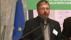 Philippe Receveur, Przewodniczący Komitetu Monitorującego CLRAE 30-lecie Europejskiej Karty Samorządu Lokalnego fot. ŚWIECZAK