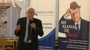 prof. dr hab. Jan Dobrogowski prezes Polskiego Towarzystwa Badania Bólu Debata o leczeniu bólu w Polsce fot. ŚWIECZAK