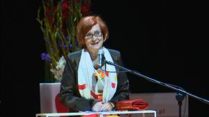 Małgorzata Fuszara  Ministra ds. równości  VII Kongres Kobiet fot. ŚWIECZAK